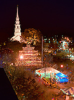 Central Square and Jack o Lantern tower, Keene Pumpkin Festival