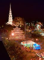 Central Square and Jack o Lantern tower, Keene Pumpkin Festival