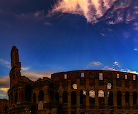 """The mystical twilight descends on the Colosseum in Rome""…<br />