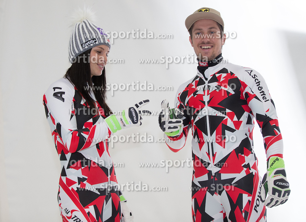 10.10.2015, Olympia Eisstadion, Innsbruck, AUT, OeSV Einkleidung Winterkollektion, im Bild Anna Fenninger, Marcel Hirscher // during the Outfitting of the Ski Austria Winter Collection at the Olympia Eisstadion in Innsbruck, Austria on 2015/10/10. EXPA Pictures © 2015, PhotoCredit: EXPA/ Johann Groder
