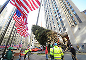 11/11/2017 - 11/29/2017 Rockefeller Center Christmas Tree Arrival and Lighintg