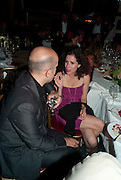 MARC QUINN; MOLLIE DENT -BROCKLEHURST, Dinner hosted by Elizabeth Saltzman for Mario Testino and Kate Moss. Mark's Club. London. 5 June 2010. -DO NOT ARCHIVE-© Copyright Photograph by Dafydd Jones. 248 Clapham Rd. London SW9 0PZ. Tel 0207 820 0771. www.dafjones.com.