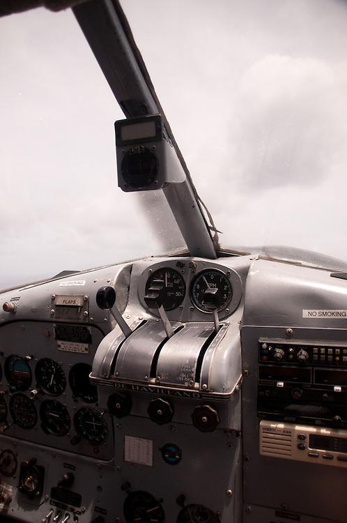 Aboard Turtle Airways' De Havilland Beaver Float Plane Enroute to Turtle Island, Yasawa Islands, Fiji