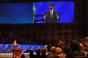 Texas Gov. Rick Perry speaks at First Baptist Dallas on Sunday, April 7, 2013. (Cooper Neill/The Dallas Morning News)