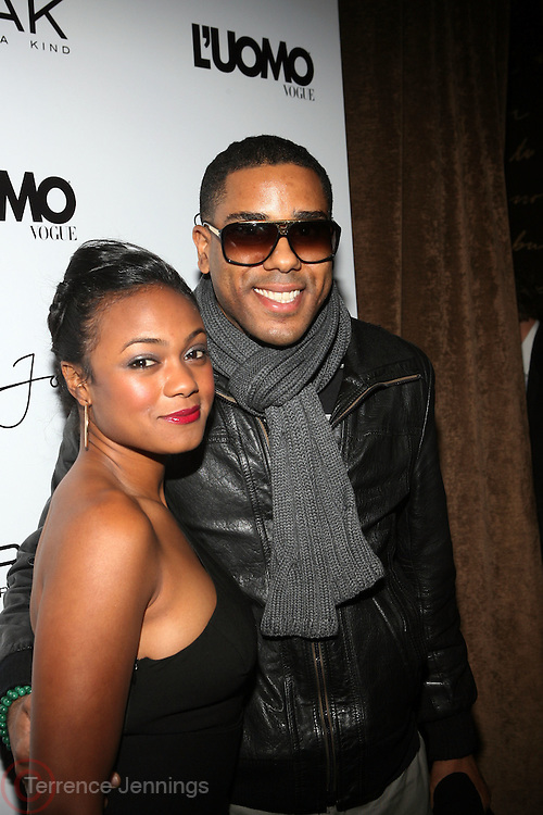 "Tantyana Ali and BJ Coleman pictured at the cocktail party celebrating Sean ""Diddy"" Combs appearance on the "" Black on Black "" cover of L'Uomo Vogue's October Music Issue"