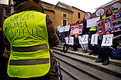 Local police demo in Rome