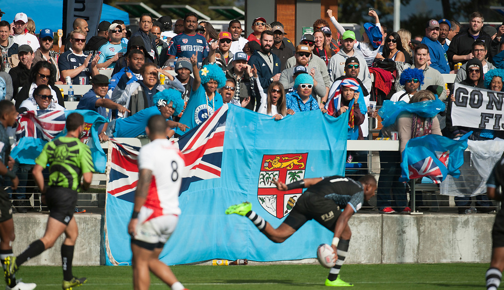 Fiji play the Japan at the Silicon Valley Sevens in San Jose, California. November 4, 2017. <br /> <br /> By Jack Megaw.<br /> <br /> FJIJPN<br /> <br /> <br /> <br /> www.jackmegaw.com<br /> <br /> jack@jackmegaw.com<br /> @jackmegawphoto<br /> [US] +1 610.764.3094<br /> [UK] +44 07481 764811