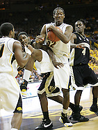 26 NOVEMBER 2007: Iowa forward/center Kurt Looby (52) grabs a rebound in Wake Forest's 56-47 win over Iowa at Carver-Hawkeye Arena in Iowa City, Iowa on November 26, 2007.
