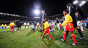 Spain walking onto the field  during the Semi Final soccer match of the 2009 Confederations Cup between Spain and the USA played at the Freestate Stadium,Bloemfontein,South Africa on 24 June 2009.  Photo: Gerhard Steenkamp/Superimage Media.