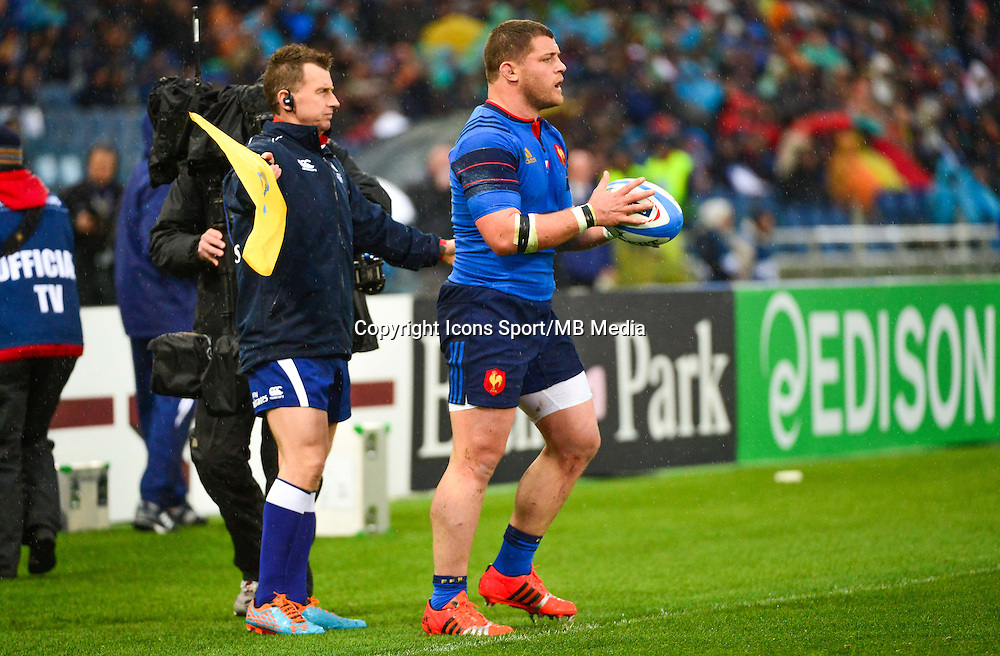Benjamin KAYSER - 15.03.2015 - Rugby - Italie / France - Tournoi des VI Nations -Rome<br /> Photo : David Winter / Icon Sport