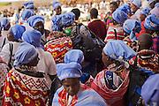 African women during the World Social Forum, from Woman's Guild organization at Moi Stadium. Nairobi, Kenya.