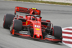 May 11, 2019 - Barcelona, Catalonia, Spain - Ferrari driver Charles Leclerc (16) of Monaco during F1 Grand Prix free practice celebrated at Circuit of Barcelona 11th May 2019 in Barcelona, Spain. (Credit Image: © Mikel Trigueros/NurPhoto via ZUMA Press)