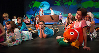 "Dress rehearsal for the cast and crew from Gilford Middle School as they prepare to ""go under the sea"" in their production of ""The Little Mermaid Jr"".   (Karen Bobotas/for the Laconia Daily Sun)"
