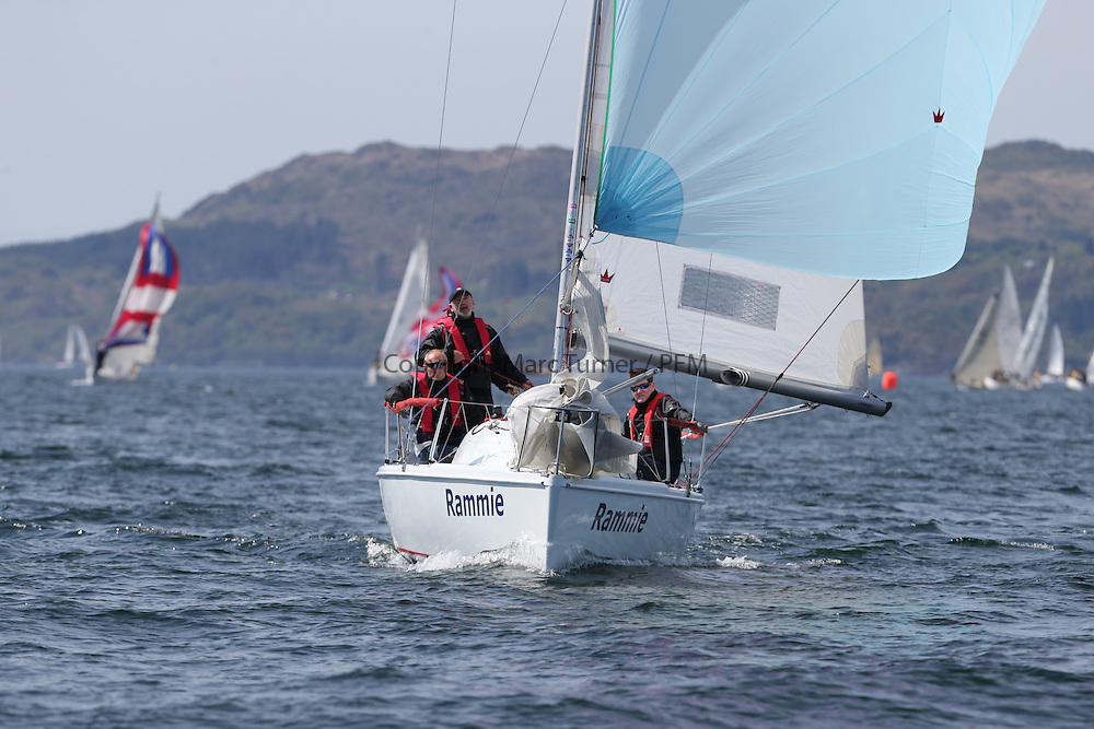 The Clyde Cruising Club's Scottish Series held on Loch Fyne by Tarbert. Day 2 racing in a perfect southerly<br /> <br /> GBR7061N, Rammie, M Fleming/D Smith, Aberdeen&amp;Stonehaven YC, Hunter 707