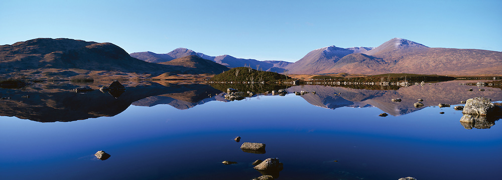 Calm waters, Black Mount, Rannoch Mor, Scotland
