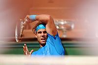 TENNIS - GRAND CHELEM - ROLAND GARROS 2011 - PARIS (FRA) - FINAL MEN - 05/06/2011 - PHOTO : PHILIPPE MILLEREAU / DPPI - RAFAEL NADAL (ESP) / WINNER vs ROGER FEDERER (SUI)