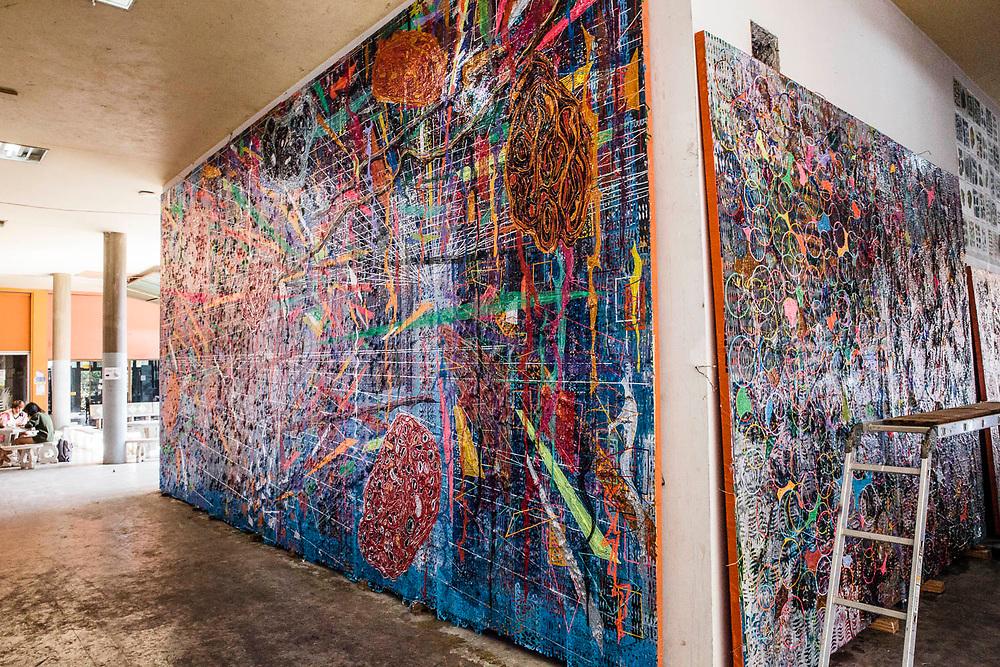 Work by artist Thasnai Setheseree at Chiang Mai Uninversity
