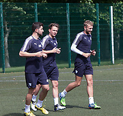 Dundee&rsquo;s Kostadin Gadzhalov, Scott Allan and Scott Bain during pre-season testing at University Grounds, Riverside, Dundee, Photo: David Young<br /> <br />  - &copy; David Young - www.davidyoungphoto.co.uk - email: davidyoungphoto@gmail.com