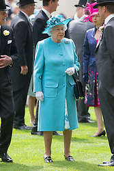 The Queen at Royal Ascot. Image ©Licensed to i-Images Picture Agency. 19/06/2014. Ascot, United Kingdom. Royal Ascot. Ascot Racecourse. Picture by i-Images