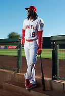 New outfielder Cameron Maybin poses during the Angels' Photo Day at Spring Training in Tempe, AZ on Tuesday, February 21, 2017. (Photo by Kevin Sullivan, Orange County Register/SCNG)