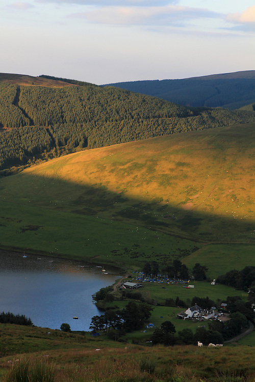Summer evening light over the far end (Tibble Shiels end) of St Marys Loch in the Scottish Borders