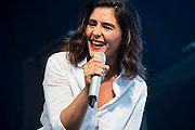Jessie Ware plays the John Peel Tent. The 2015 Glastonbury Festival, Worthy Farm, Glastonbury.