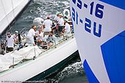 Nefertiti racing at the New York Yacht Club Race Week.