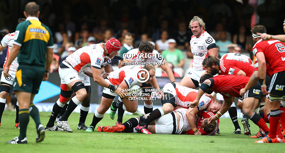 DURBAN, SOUTH AFRICA - APRIL 04:  Kyle Cooper of the Cell C Sharks during the Super Rugby match between Cell C Sharks and Crusaders at Growthpoint Kings Park on April 04, 2015 in Durban, South Africa. (Photo by Steve Haag/Gallo Images)