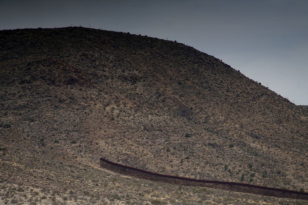 View of border fence on Friday, April 6, 2018 in Jacumba, California.  President Doanld Trump is sending National Guard to the border in an attempt to stop the flow of illegal immigrants crossing over.