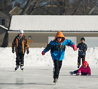 Laconia Parks and Rec skating party at Memorial Park Friday, February 28, 2014.    Karen Bobotas/for the Laconia Daily Sun
