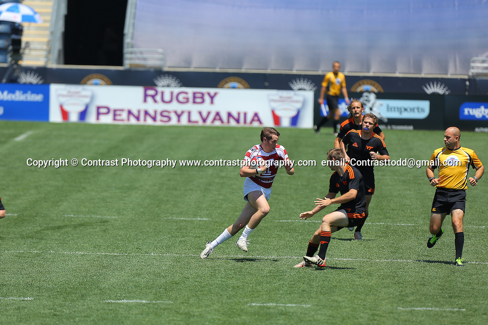 01 June 2013:  USA Sevens Collegiate Rugby at PPL park in Chester, PA <br /> <br /> Mandatory Credit:Todd Bauders/ContrastPhotography.com