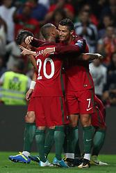August 31, 2017 - Porto, Porto, Portugal - Portugal's forward Cristiano Ronaldo celebrates after scoring a goal during the FIFA World Cup Russia 2018 qualifier match between Portugal and Faroe Islands at Bessa Sec XXI Stadium on August 31, 2017 in Porto, Portugal. (Credit Image: © Dpi/NurPhoto via ZUMA Press)