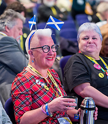 Pictured: delegates gather at the start of the conference.<br /> <br /> The first day of the SNP autumn conference at the SEC in glasgow.<br /> <br /> © Dave Johnston / EEm