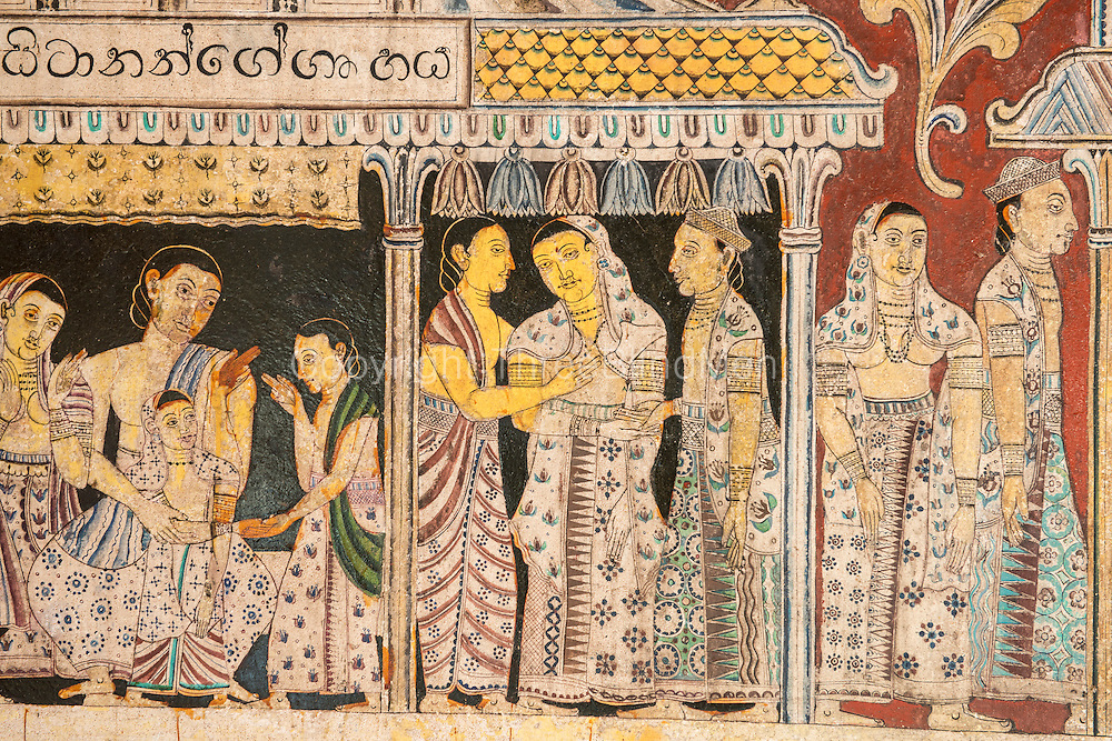Sri lanka shailabimbarama buddhist temple in dodanduwa for Examples of mural painting