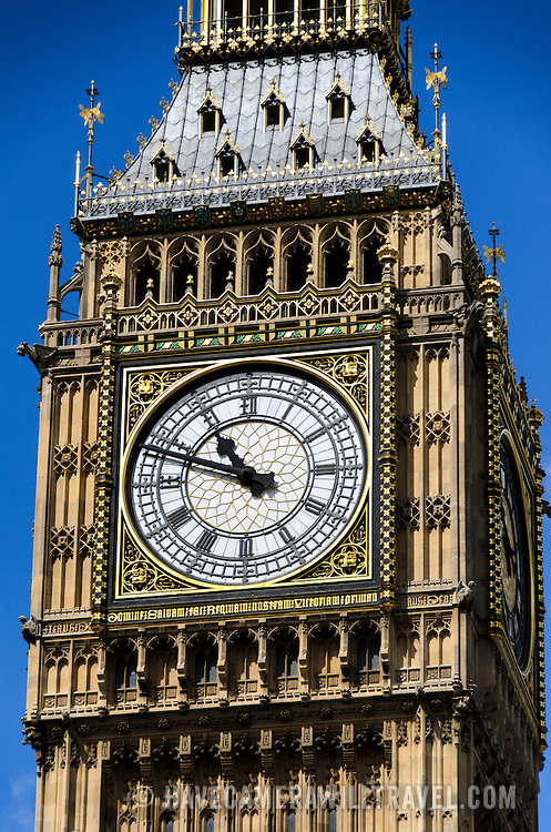 Big Ben Clock Close-Up 169-095017594x 169-095017594x Close-up of the ornate clock of Elizabeth Tower (commonly known as Big Ben, which is actually the bell inside it) on the Palace of Westminster.