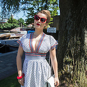 NLD/Amsterdam/20140613 - Leco van Zadelhoff organiseert samen met Beau Monde Beau Bateau een vaartocht met vriendinnen, Victoria Koblenko