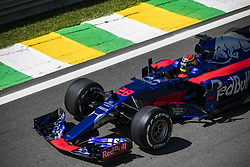 November 10, 2017 - Sao Paulo, Sao Paulo, Brazil - Nov, 2017 - Sao Paulo, Sao Paulo, Brazil - BRENDON HARTLEY/Scuderia Toro Rosso. Free practice this Friday (10), for the Brazilian Grand Prix of Formula One that takes place next Sunday at the Autodromo de Interlagos in São Paulo. (Credit Image: © Marcelo Chello via ZUMA Wire)