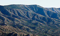 The Sandia mountain foothills outside Albuquerque, New Mexico, USA.