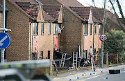 """Pictured: Audi TT smashes into house during 'police chase' before wanted men make off on foot<br /> <br /> The occupants of the house were miraculously unhurt, but the property has now been deemed unsafe and police are searching for two men who were in the car<br /> <br /> This was the scene of devastation left after a car smashed into a HOUSE during a """"high-speed police chase"""", before two wanted men made off on foot.<br /> The Audi TT was left embedded in the front of a home in Portslade, Brighton, following the dramatic crash earlier this afternoon.<br /> Police say the car, which they believe to be stolen, had been clocked by detectives a short time before, and officers were looking for the vehicle when it crashed.<br /> The Sussex force said the """"precise circumstances"""" of that search are being looked into, and the matter has been referred to the police watchdog.<br /> But eyewitnesses have claimed the Audi was being pursued.<br /> <br /> ollowing the crash, two men got out of the vehicle and ran away, and are now the subject of a police manhunt.<br /> A third man, who was trapped in the car, was freed by fire crews and arrested on suspicion of vehicle theft.<br /> He was also taken to hospital as a precautionary measure.<br /> The terrified occupants of the house in Valley Road, who were home when the sportscar drove through their front wall, were miraculously unhurt.<br /> But the property has been deemed unsafe by engineers, who are continuing to assess the damage.<br /> There were also reports that the front of car caught fire after the crash, but police said there are no reports that the fire spread to the house.<br /> ©Exclusivepix"""