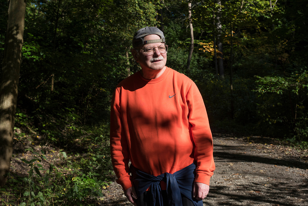 Jim Delaney - park ambassador - in Frick Park in Pittsburgh.