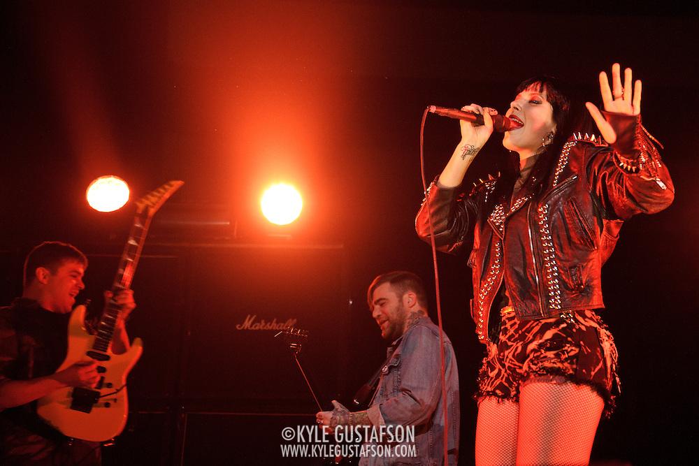 WASHINGTON, DC - May 10th, 2012 - Sleigh Bells perform at the Verizon Center in Washington, D.C. (Photo by Kyle Gustafson)