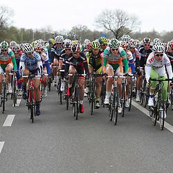 Ronde van Gelderland 2012, peloton in actie