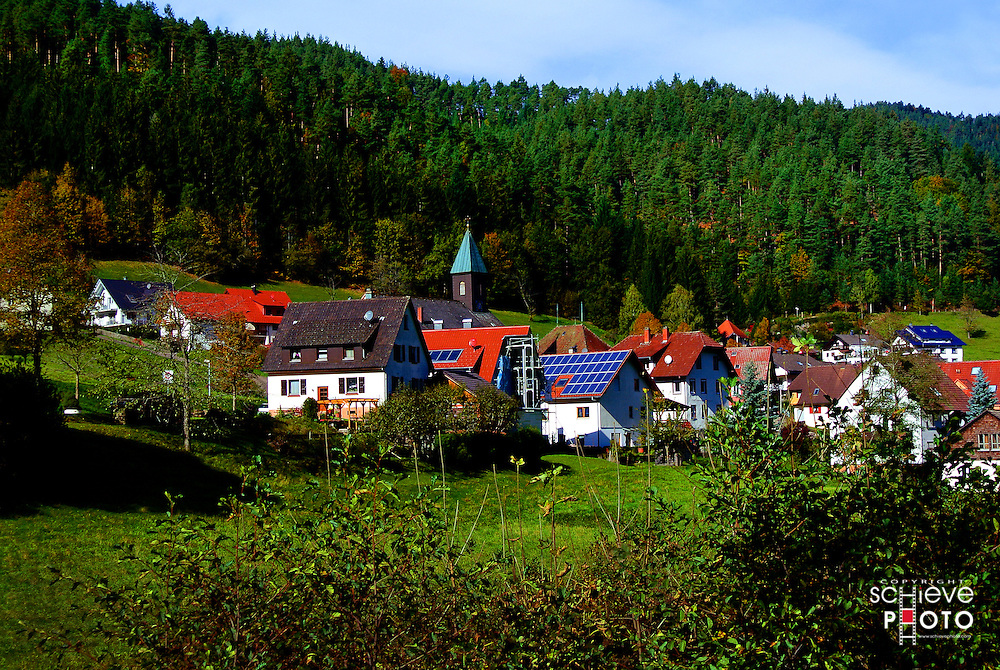 The small village of Hornberg, Germany in the Black Forest.