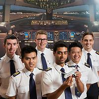 Qatar cadets, CTC Aviation at CTC base at Hamilton Airport, Waikato, New Zealand, Thursday 30 January 2014. Photo: Stephen Barker/Barker Photography.  ©CTC Aviation