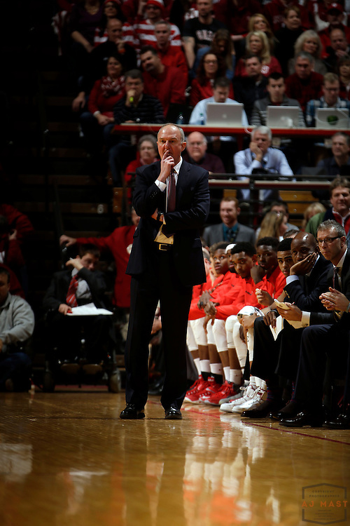 Ohio State head coach Thad Matta as Ohio State played Indiana in an NCCA college basketball game in Bloomington, Ind., Saturday, Jan. 10, 2015. (AJ Mast)