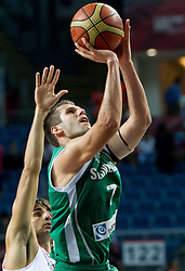 Sani Becirovic of Slovenia during the fifth-place basketball match between National teams of Slovenia and Spain at 2010 FIBA World Championships on September 10, 2010 at the Sinan Erdem Dome in Istanbul, Turkey.   (Photo By Vid Ponikvar / Sportida.com)