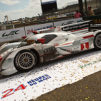 #1 Audi e-tron quattro, Winner LMP1 at the Le Mans 24H in 2012