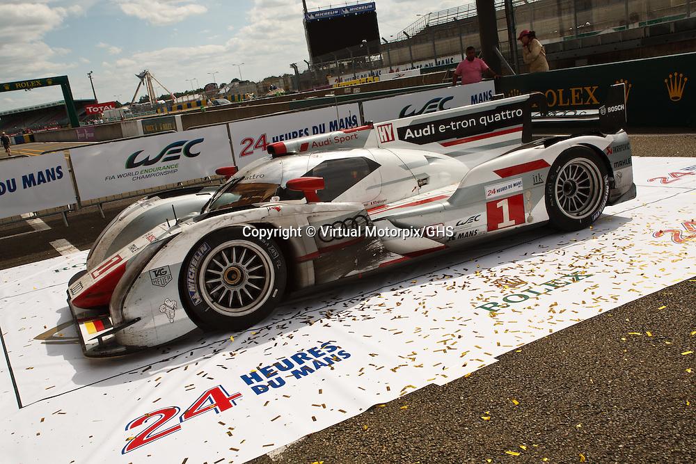 #1 Audi e-tron quattro, Winner LMP1 at the Le Mans 24H in 2012