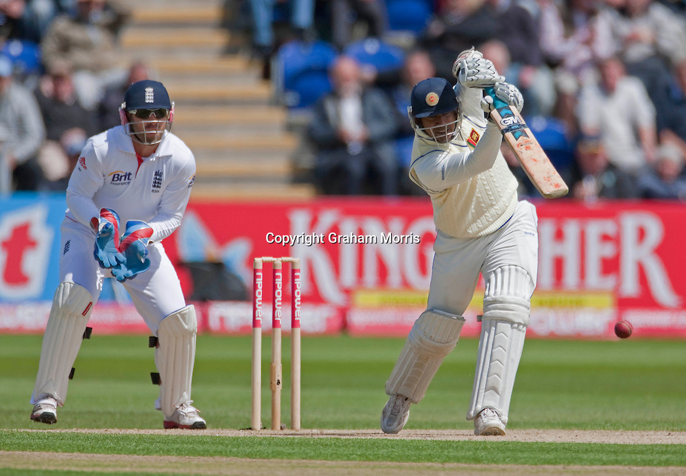 Prasanna Jayawardene bats during his century in the first npower Test Match between England and Sri Lanka at the SWALEC Stadium, Cardiff.  Photo: Graham Morris (Tel: +44(0)20 8969 4192 Email: sales@cricketpix.com) 27/05/11