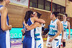Teams celebrate after Women's Basketball - Slovenia vs Slovaska on the 14th of June 2019, Dvorana Poden, Skofja Loka, Slovenia. Photo by Matic Ritonja / Sportida